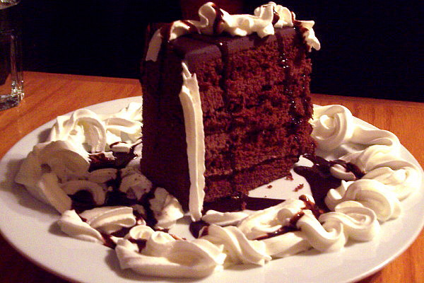 photo of chocolate layer cake from the Swanton Street Diner, Winchester, MA