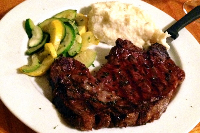 photo of rib-eye steak from the Swanton Street Diner, Winchester, MA