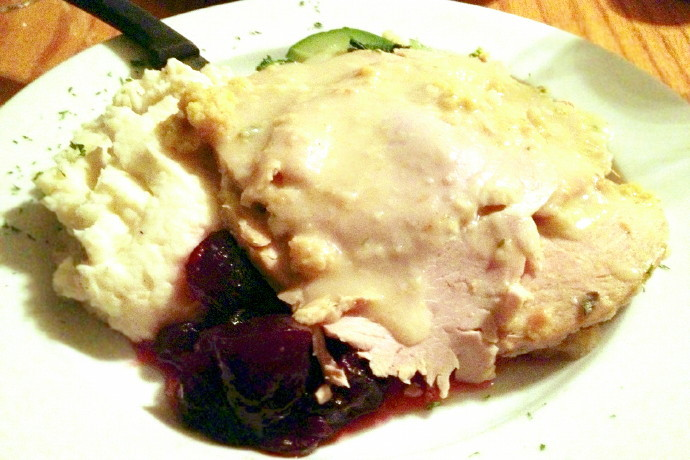photo of turkey dinner from the Swanton Street Diner, Winchester, MA