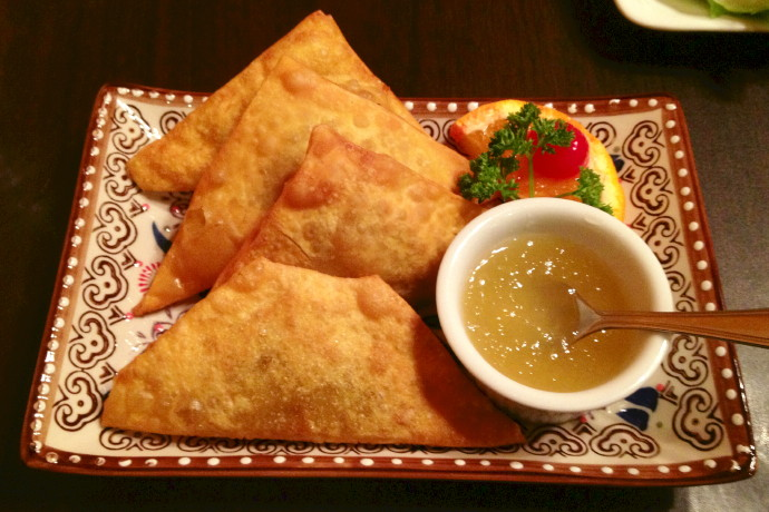 photo of hot golden triangles from Sweet Ginger, Somerville, MA