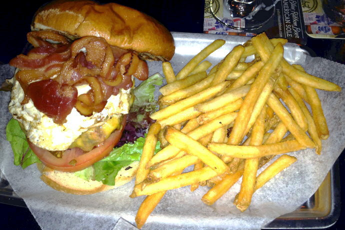 photo of a burger from The Gaff, Waltham, MA