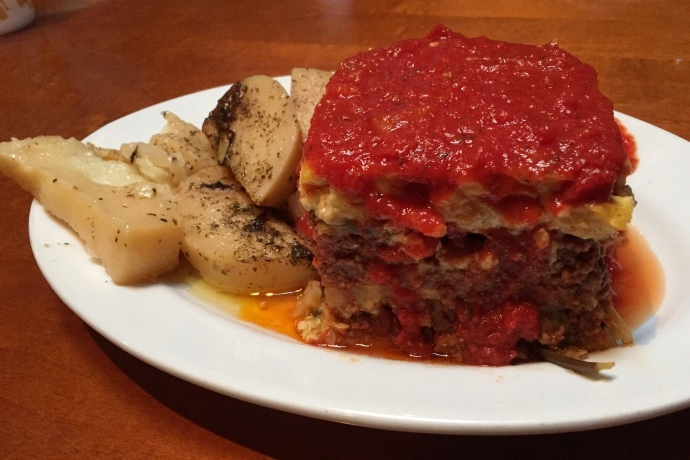 photo of moussaka from The Restaurant, Woburn, MA
