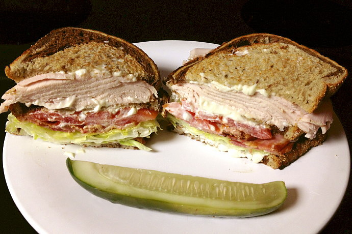 photo of a turkey club sandwich from The Restaurant, Woburn, MA