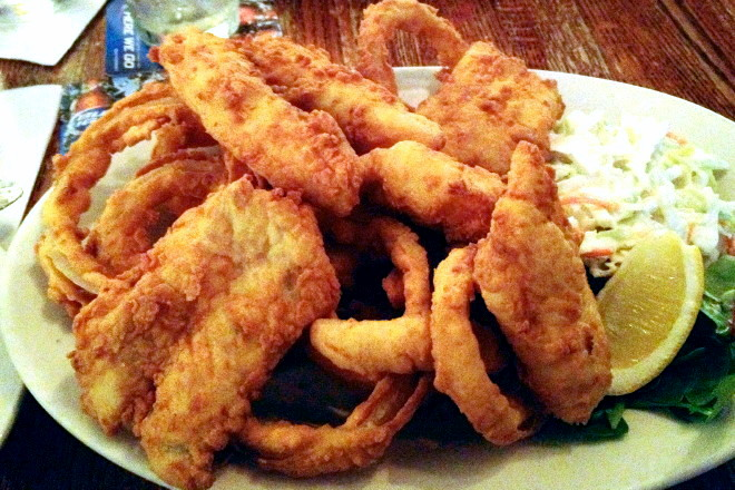 photo of fish and chips from The Snug, Hingham, MA