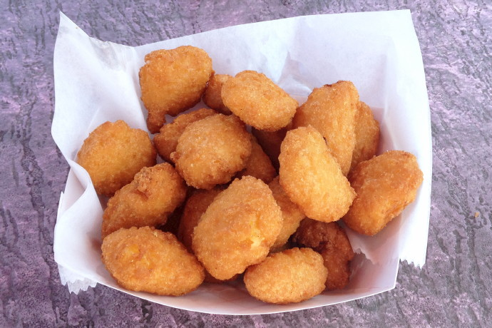 photo of corn fritters from Tony's Clam Shop, Quincy, MA