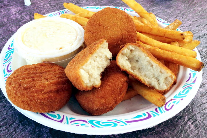 photo of fish cakes from Tony's Clam Shop, Quincy, MA
