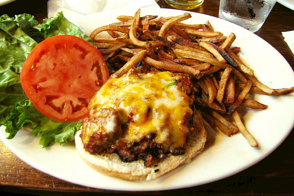 photo of chili cheeseburger from Trinity Brewhouse, Providence, RI