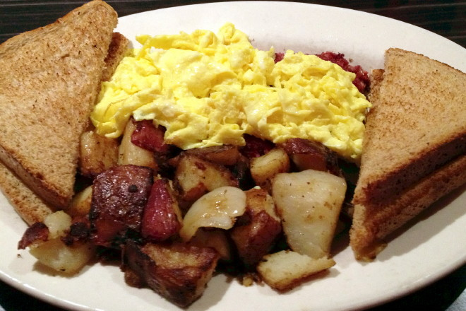 photo of breakfast plate from Victoria's Diner, Boston, MA