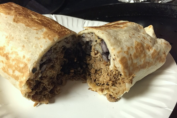 photo of a beef burrito from Villa Mexico, Boston, MA