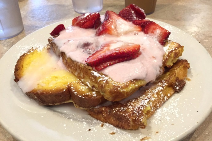 photo of Strawberry Strudel French Toast from Newton Village Cafe, Newtonville, MA