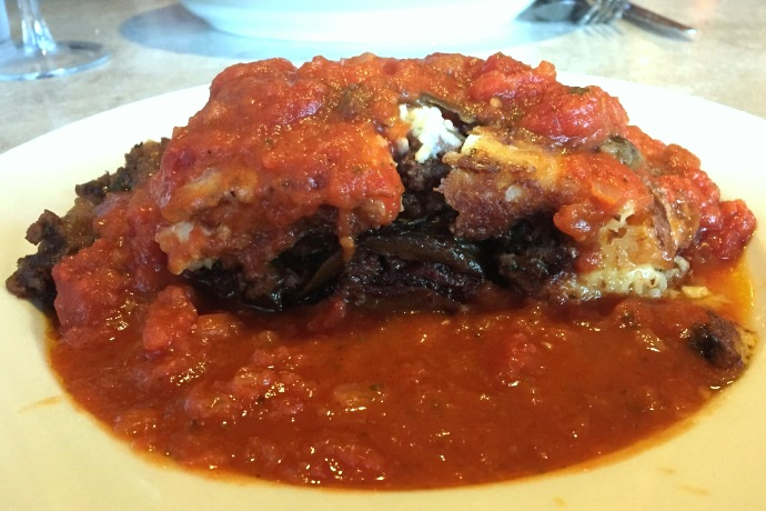 photo of moussaka from Newton Village Cafe, Newtonville, MA
