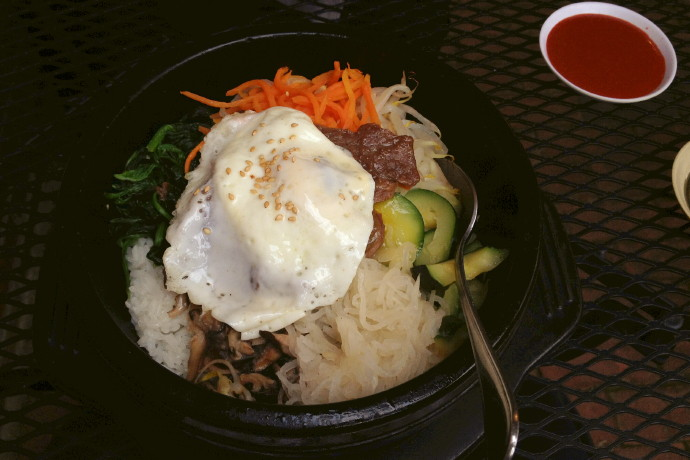 photo of bibimbap from Village Sushi and Grill, Roslindale, MA