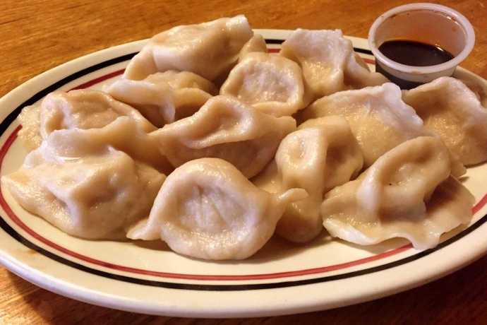 photo of dumplings from Wang's Fast Food, Somerville, MA